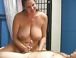jerk off on big tits xxx